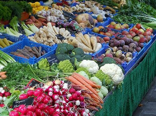 Stoisko z warzywami