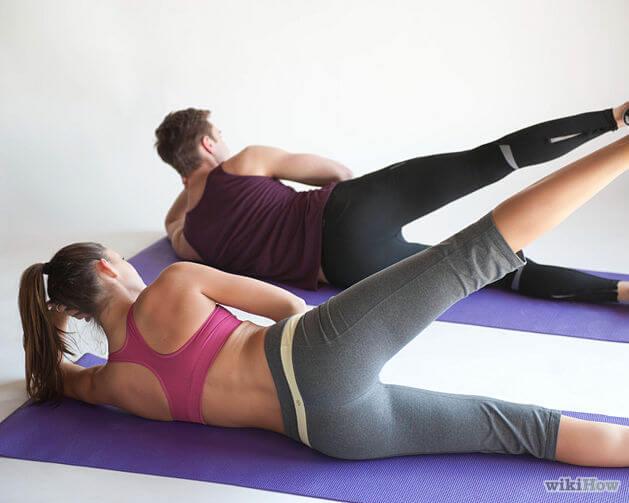 Boczne unoszenia nogi - pilates