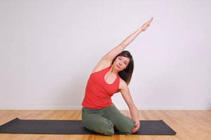 Ćwiczenie typu syrena - pilates
