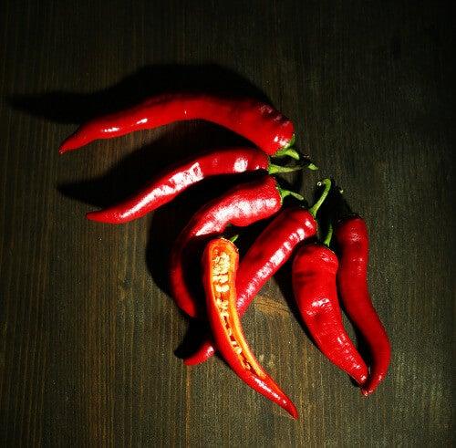 Papryczki chili a warzywa