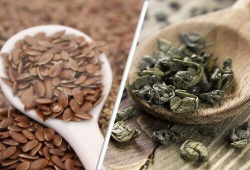 Walcz z rakiem naturalnie – zielona herbata i nasiona lnu