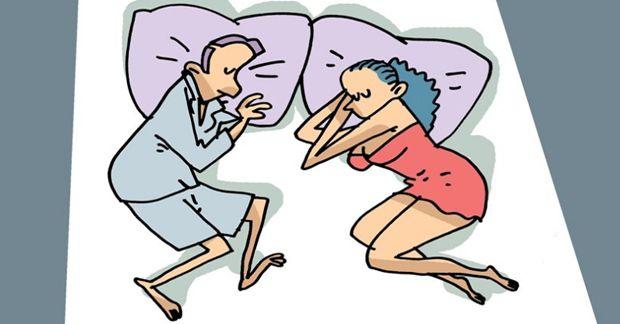 Para śpi twarzą do siebie