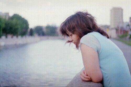 Kobieta cierpiąca na depresję