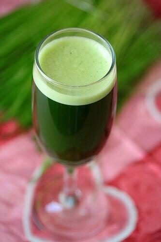Szklanka zielonego soku