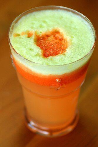 Świeży sok marchwiowy