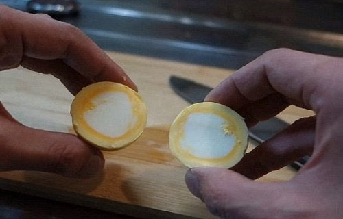 Ugotowane kurze jajka