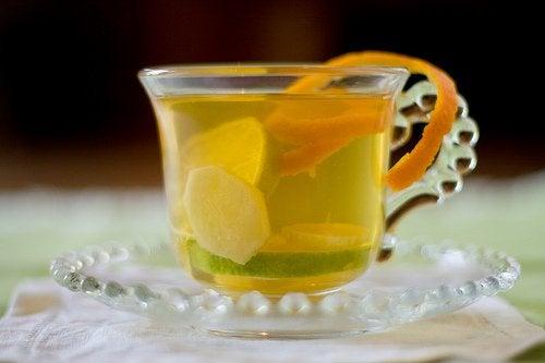 Herbata z dodatkiem imbiru