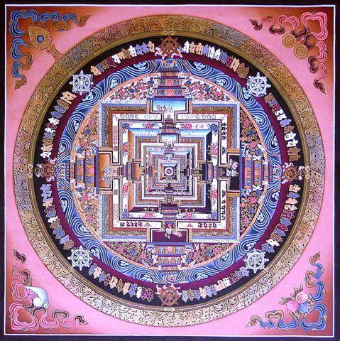 Mandala pełna symboli