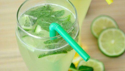 Woda o smaku cytrynowo-miętowym