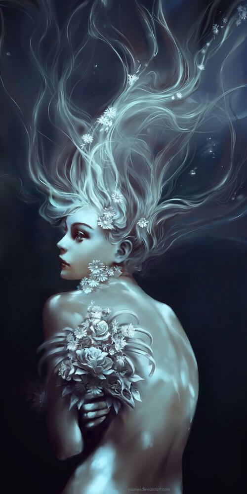 Kobieta z kwiatami i jej osobowość