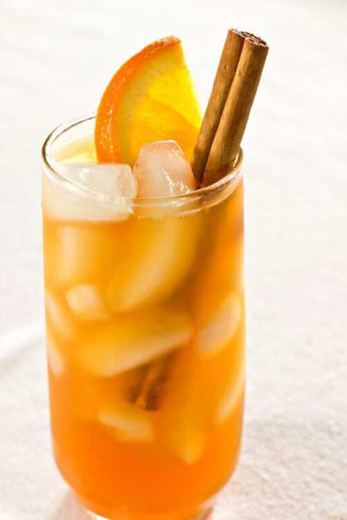 Orzeźwiająca herbata pomarańczowa