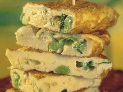 Omlety ze szpinakiem