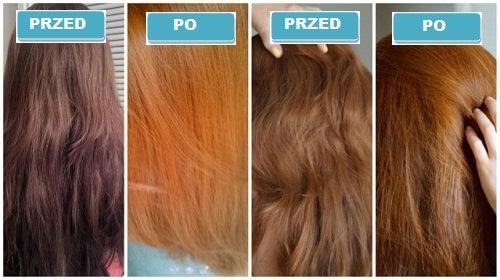 Rozjaśnione włosy
