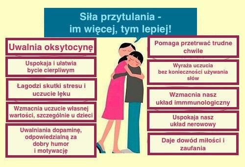 Korzyści z przytulania