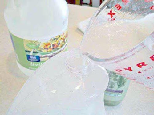 Płyn do płukania tkanin domowej receptury