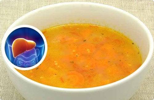 Wątroba i zupa oczyszczająca