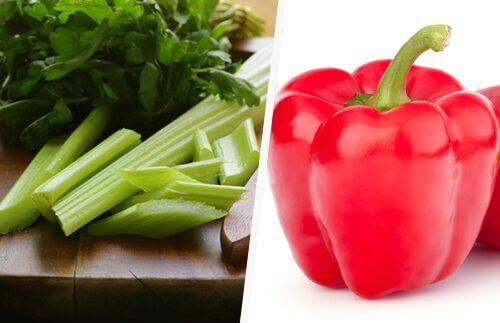 Seler i czerwona papryka