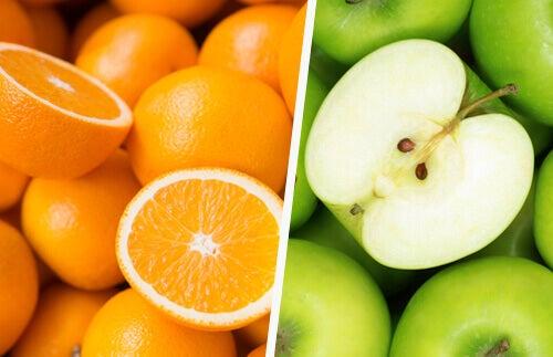 Jabłko i pomarańcza
