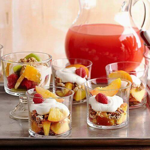 Jogurty z owocami