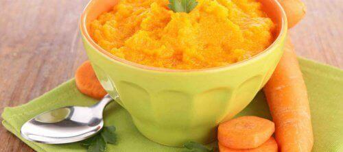 Puree z marchewki