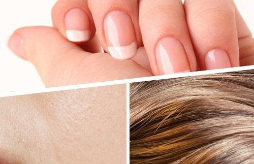Wzmocnienie włosów, skóry i paznokci: Koktajle