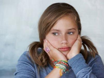 Zatroskana nastolatka