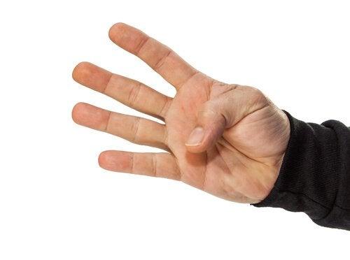 Zgięty kciuk