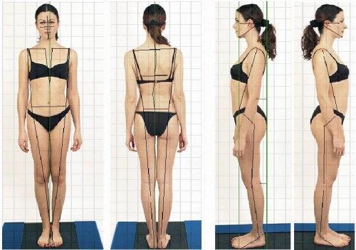 błędna i prawidłowa postura ciała