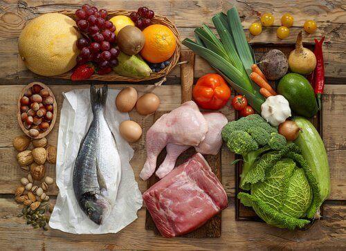 Produkty zbilansowanej diety