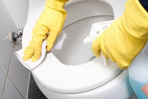 Sprzątanie toalety