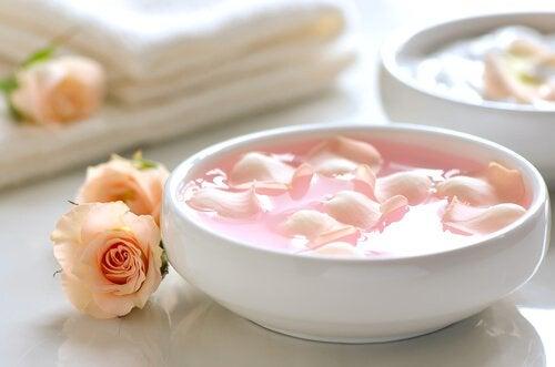 Jogurt z płatkami róży
