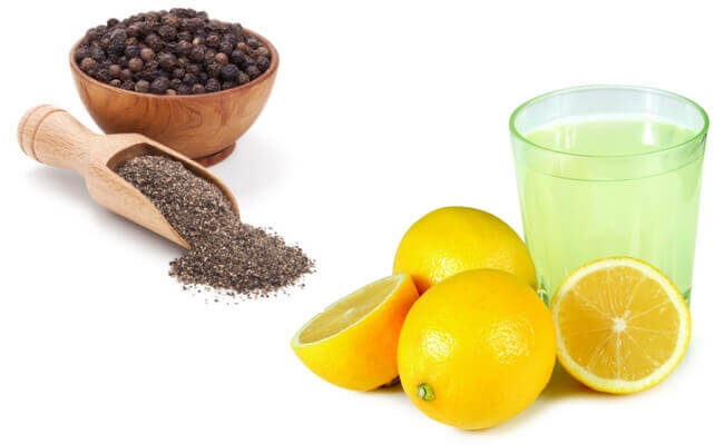 Cytryna, pieprz i oliwa