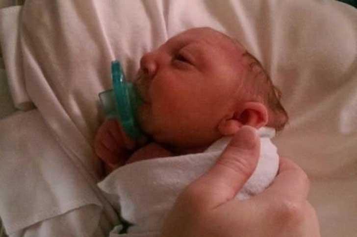 Jaxon po urodzeniu