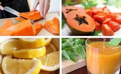 Oczyszczamy żołądek papają i cytryną