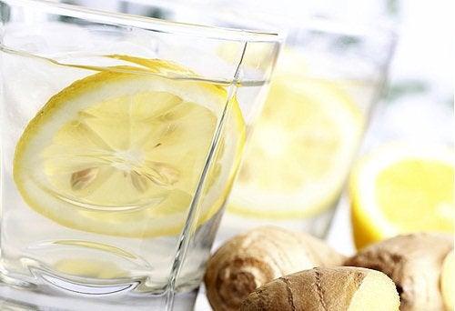 Cytryna i imbir z wodą