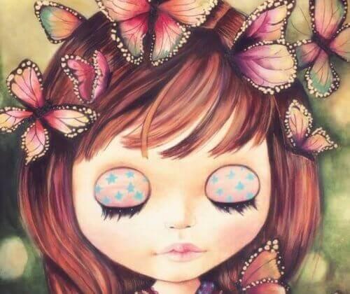 Dziecko i motyle