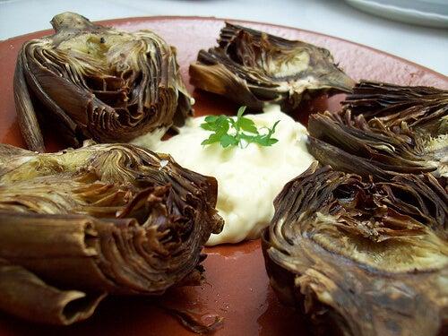 Warzywa, grillowana cebula