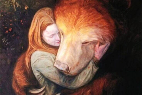 Kobieta niedźwiedź