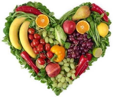 Serce z warzyw i owoców