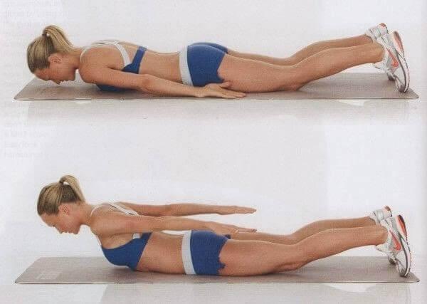 Unoszenie pleców - tkanka tłuszczowa na plecach