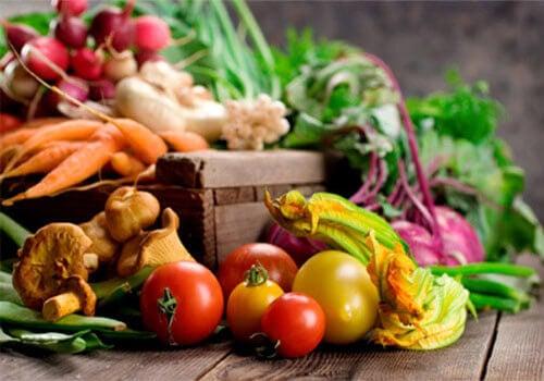 Świeże i kolorowe warzywa
