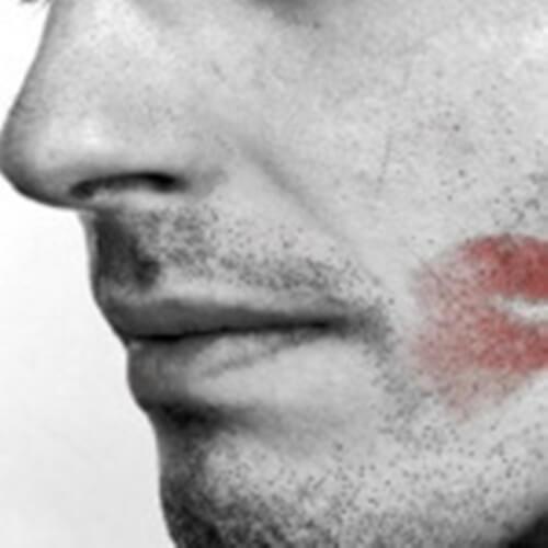 Zdrada ślad szminki
