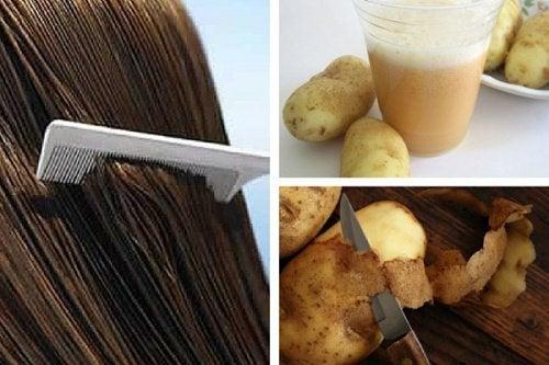 Ziemniaki a włosy