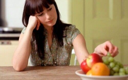Kobieta bez apetytu