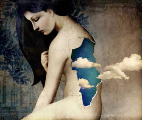 Kobieta i chmury