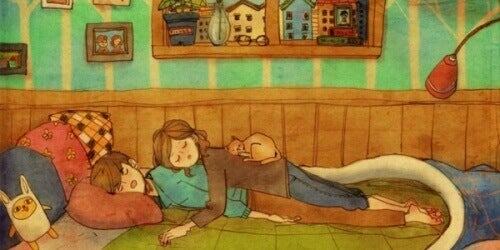 Para śpiąca razem