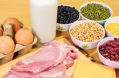 Produkty z białkiem
