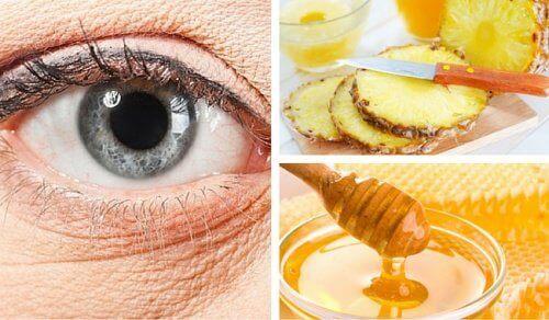 Ananas i miód na zmarszczki