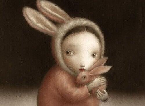 Dziecko z króliczkiem