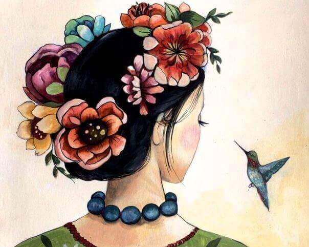 Kobieta i ptak